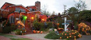 A home in the Oak-Brooks neighborhood of Laguna Beach, a favorite of candy hunting children.