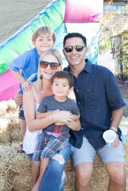 Andrea and JJ Ballesteros with their children Cruz, 7, top, and Christian, 3.