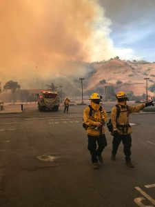 Laguna Beach fire fighters deployed to a wildfire in Anaheim in October.