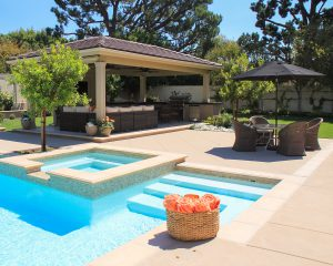 Landscapers reshaped the Villa Park home's exterior with an expanded pool and spa, which won an industry award.