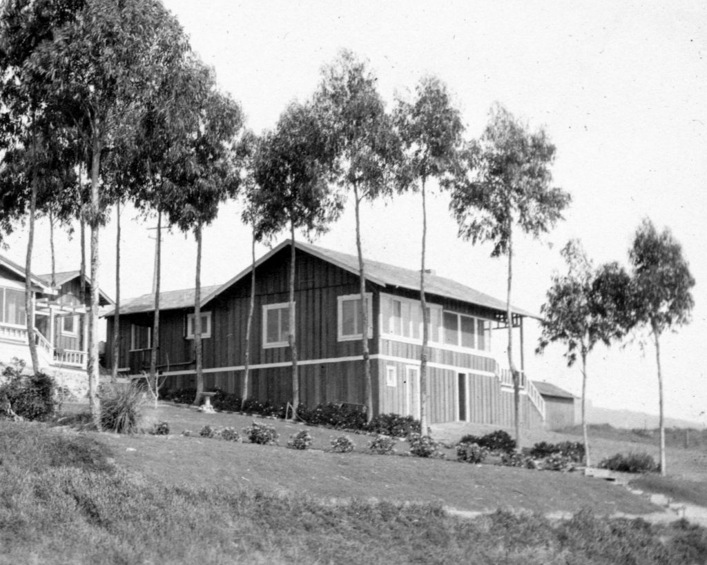 738 Cliff Drive home in its original state in a historic photo.